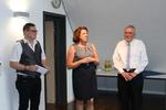 Die Bürgermeisterin der Gemeinde Liefern-Öschelbronn, Frau Förster, bei der Begrüßung der LV-Vorsitzenden