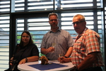 Judith Ziehm-Degner (Kaninchenzeitung); Mike Hennings (LV-Vorsitzender) & Martin Groß (LV-Vorsitzedner Berlin-Brandenburg)